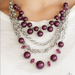 New! Paparazzi Rockin' Rockette Purple Necklace